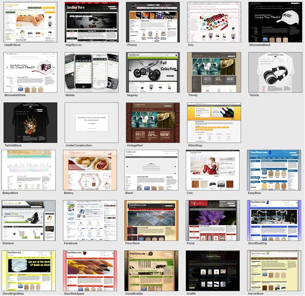 AmeriCommerce Review - Theme Selection (click to enlarge)