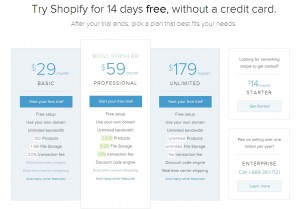Shopify Review 2013 - Plan Comparison (click to enlarge)