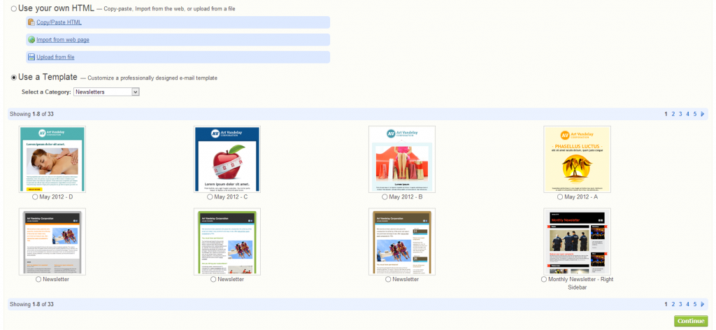 StreamSend - Email Templates (click to enlarge)