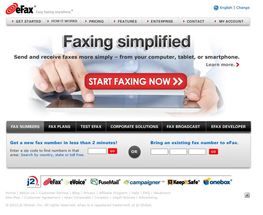eFax Online Fax Service